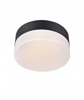 Plafon DEMAN plafond 22cm Black 106573 czarny/biały MARKSLOJD