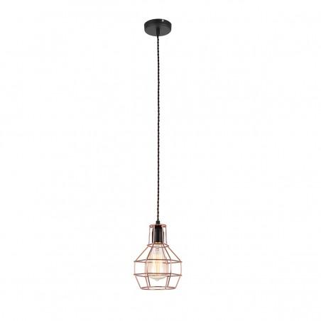 Lampa wisząca PERIFO MDM-2272/1 BK+COP czarny/miedziany ITALUX