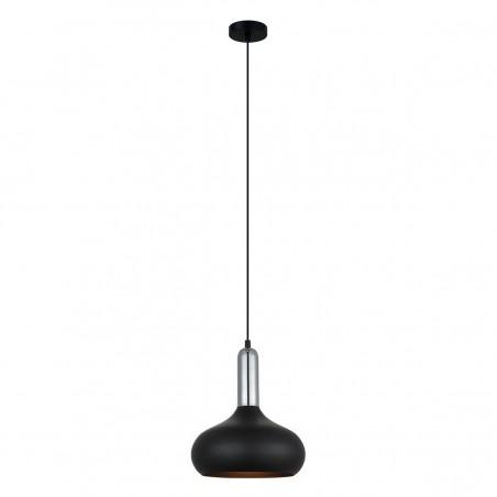 Lampa wisząca QUESMO MDM-3029/1 BK+CR czarny ITALUX