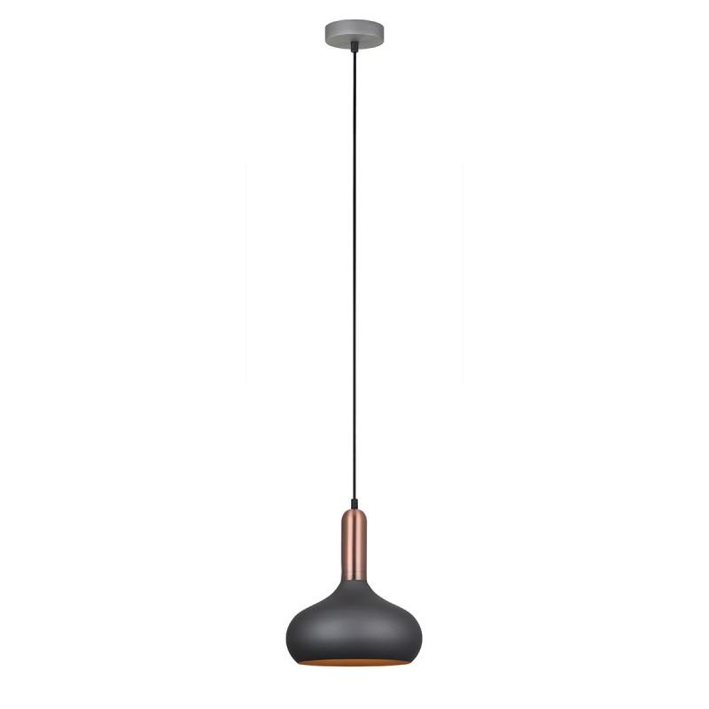 Lampa wisząca QUESMO MDM-3029/1 GR+RC szary/miedziany ITALUX