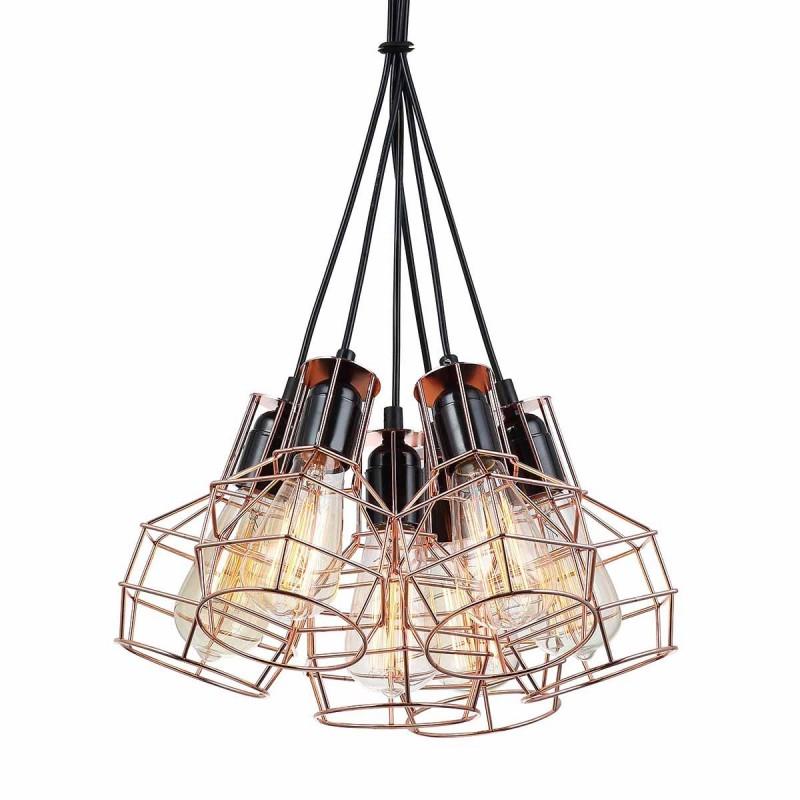 Lampa wisząca PERIFO MDM-2272/6 czarny/miedziany ITALUX