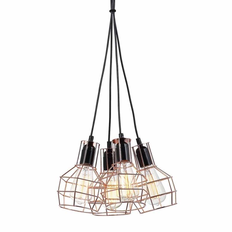 Lampa wisząca PERIFO MDM-2272/4 czarny/miedziany ITALUX