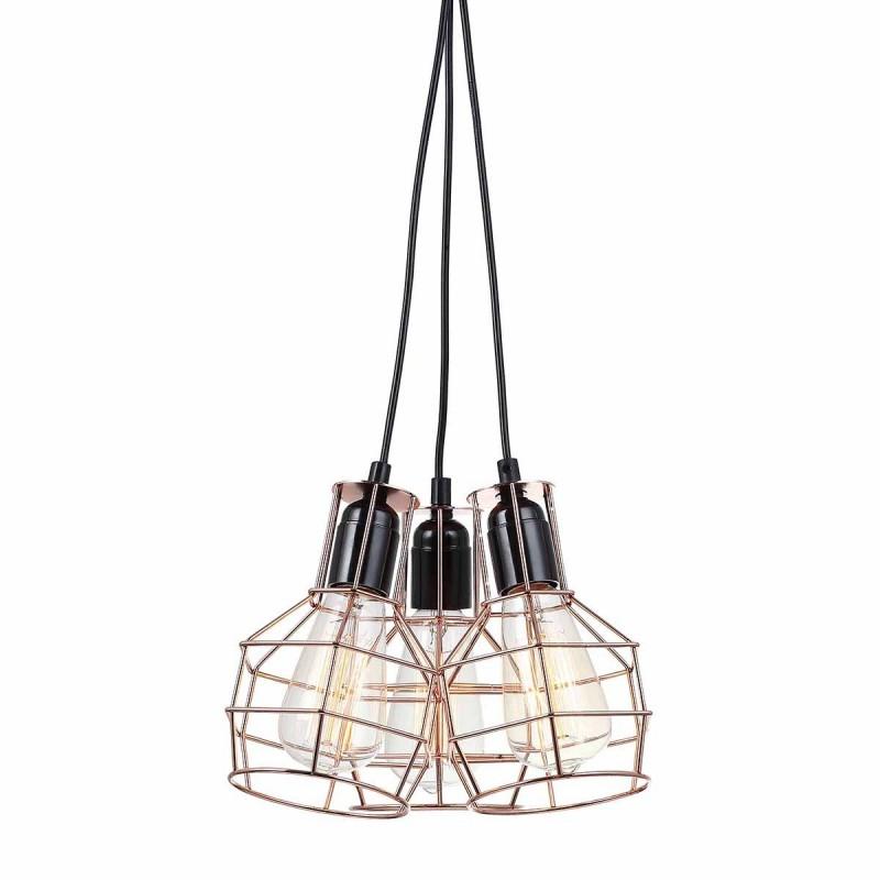 Lampa wisząca PERIFO MDM-2272/3 czarny/miedziany ITALUX