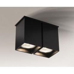 Lampa plafon TODA 1103 czarna SHILO