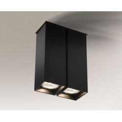 Lampa plafon TODA 1104 czarna SHILO