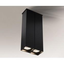 Lampa plafon TODA 1106 czarna SHILO