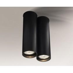 Lampa plafon ARIDA 1112 czarna SHILO