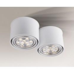 Lampa plafon MIKI 1117 biała SHILO