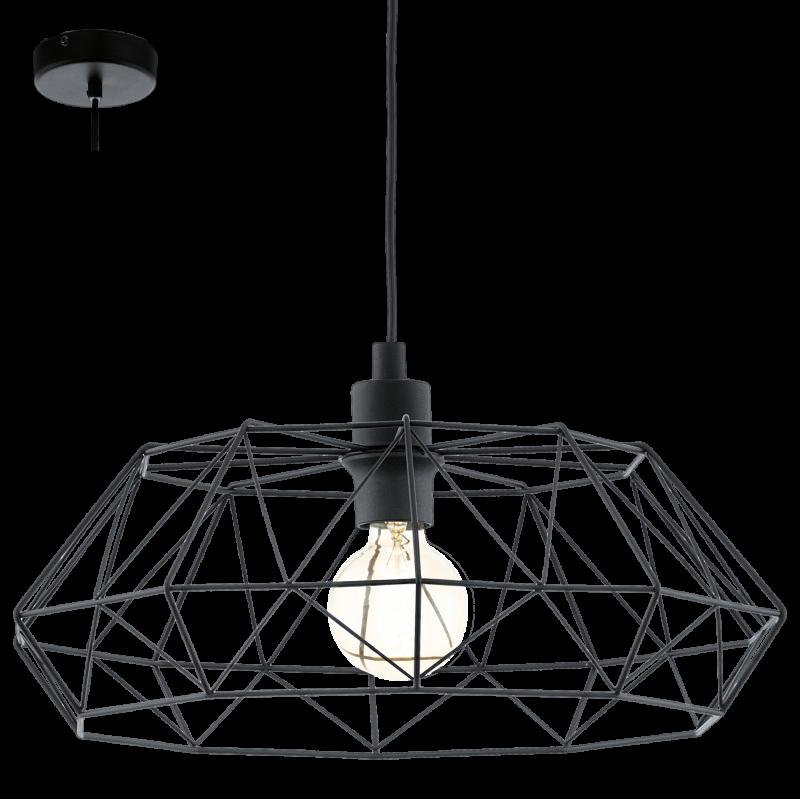 Lampa wisząca CARLTON 2 49487 czarny EGLO
