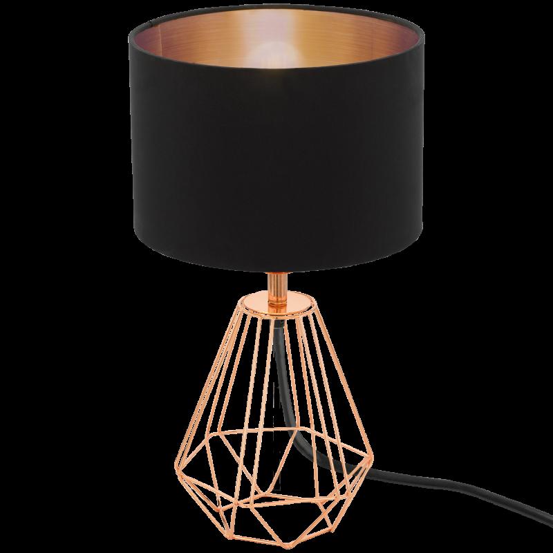 Lampa stołowa CARLTON 2 95787 czarny/miedź EGLO