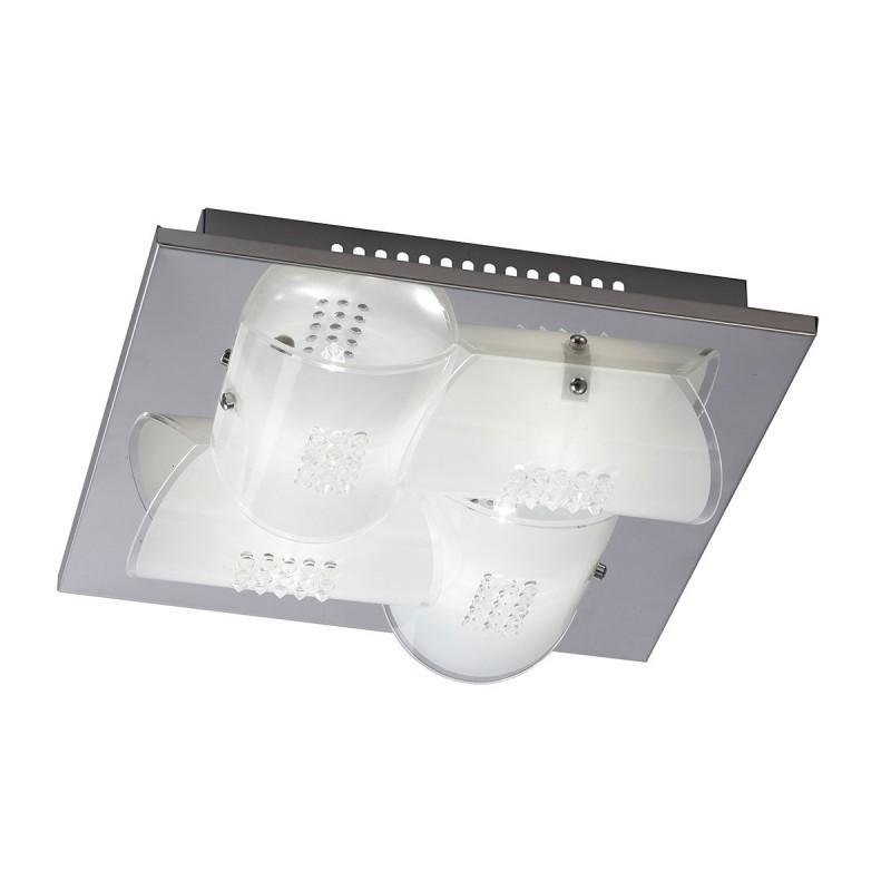Plafon DAZE C29373F-1 biały/chrom ITALUX