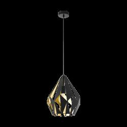 Lampa wisząca CARLTON 49931 czarny/złoty EGLO