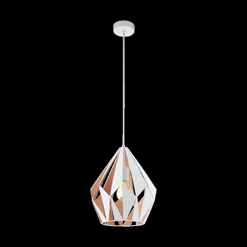 Lampa wisząca CARLTON 49932 biały EGLO