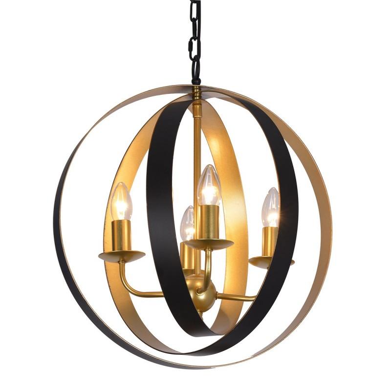 Lampa wisząca KAIA MD-BR16079-D4-B/G czarny/złoty ITALUX