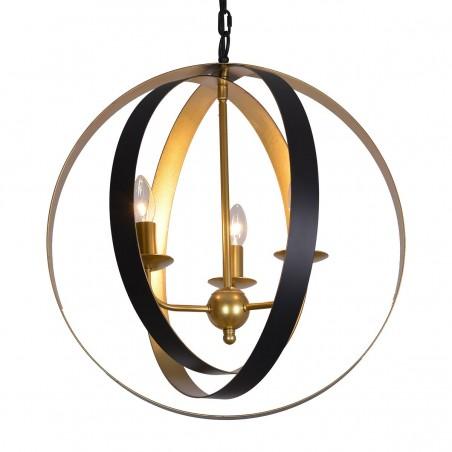Lampa wisząca KAIA MD-BR16483-D3-B/G czarny/złoty ITALUX