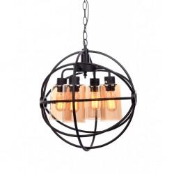 Lampa wisząca LOFT LDP 11765 - 3 czarna LUMINA DECO