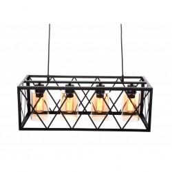 Lampa wisząca LOFT 11775 - 4 mosiężna LUMINA DECO