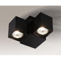 Lampa plafon BIZEN 2210 czarna SHILO