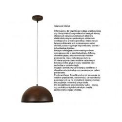 Lampa wisząca HEMISPHERE rust S 6367 NOWODVORSKI