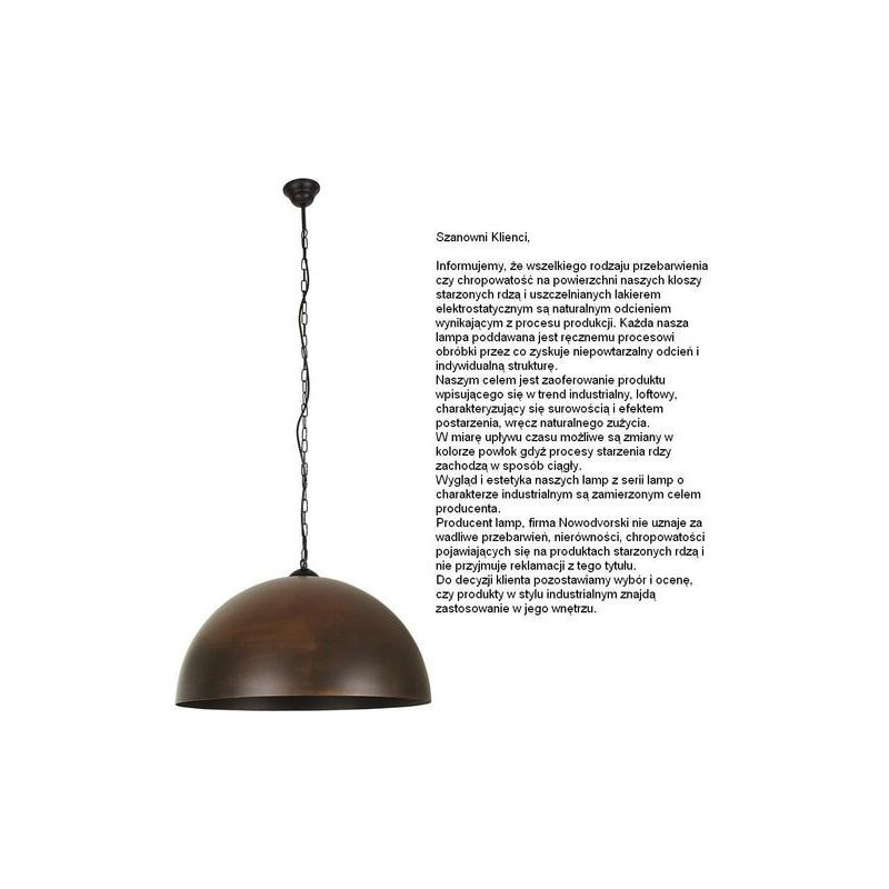 Lampa wisząca HEMISPHERE rust L 6368 NOWODVORSKI