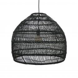 Lampa wisząca wiklinowa w stylu balijskim boho VOL5016 czarna HK LIVING