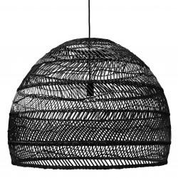 Lampa wisząca wiklinowa w stylu balijskim boho VOL5014 czarna HK LIVING