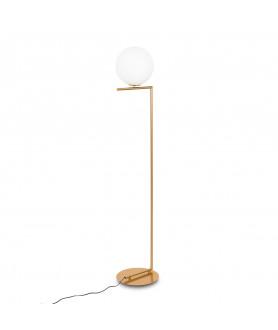 Lampa podłogowa MONDO MLE3081/1 mosiężna INSPIROWANA