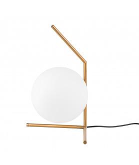 Lampa stołowa MONDO MTE2104/1 mosiężna INSPIROWANA