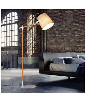 Lampa podłogowa LAPIDUS LDF 8308 ( KR ) kremowa LUMINA DECO