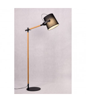 Lampa podłogowa LAPIDUS LDF 8308 ( BK ) czarna LUMINA DECO
