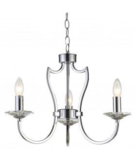 Lampa wisząca RIGA P03755CH chrom COSMO LIGHT