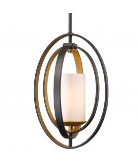 Lampa wisząca DUBLIN P01465BZ brąz/złoty COSMO LIGHT