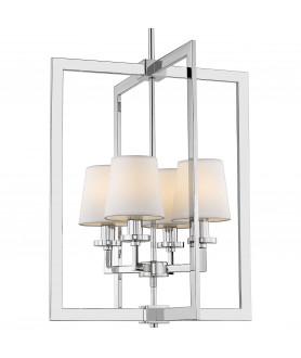 Lampa wisząca LONDON P04021WH biały/chrom COSMO LIGHT