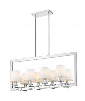 Lampa wisząca LONDON P08038WH biały/chrom COSMO LIGHT