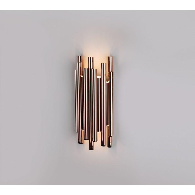 Lampa kinkiet ORGANIC W0187 złota MAX LIGHT