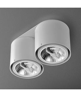 Lampa plafon TUBA 111x2 230V 45632-03 biała AQUAFORM