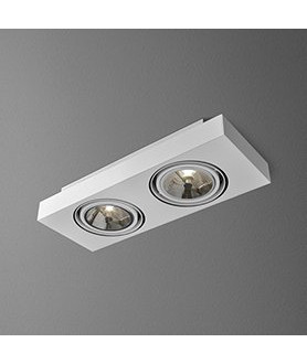 Lampa plafon TUBA 111 34 46611-03 biała AQUAFORM