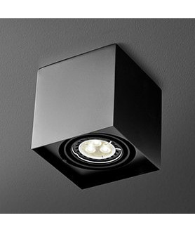 Lampa plafon SQUARES 50x2 45912-02 czarna AQUAFORM