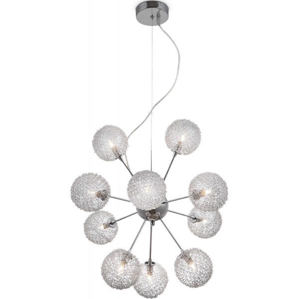 Lampa wisząca ENIGMA 56620 10H chrom GLOBO Cudne lampy