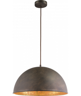 Lampa wisząca XIRENA I 58307H rdzawy GLOBO