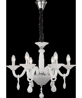 Lampa wisząca CROWN II 64120-6 biały GLOBO