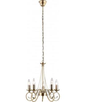 Lampa wisząca TRUNCATUS 69003-5 mosiądz GLOBO