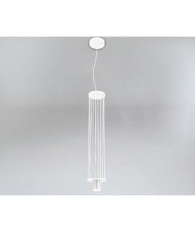Lampa wisząca IHI 9007 biało złota SHILO