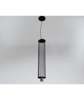 Lampa wisząca IHI 9007 czarno złota SHILO