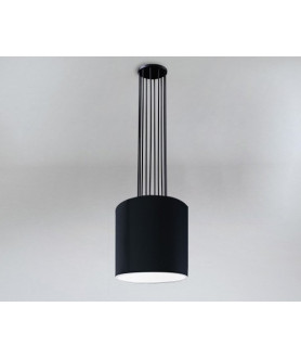 Lampa wisząca IHI 9043 czarno złota SHILO