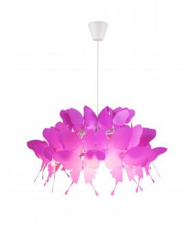 Lampa wisząca FARFALLA LP-3439/1P różowa LIGHT PRESTIGE