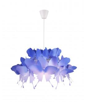 Lampa wisząca FARFALLA LP-3439/1P niebieska LIGHT PRESTIGE