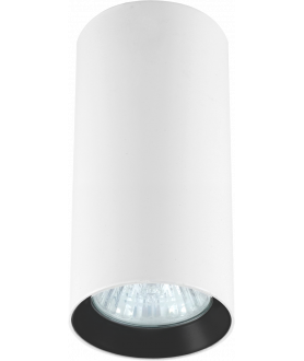 Lampa plafon MANACOR LP-232/1D - 90 biały/czarny 9 cm LIGHT PRESTIGE