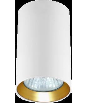 Lampa plafon MANACOR LP-232/1D - 130 biały/złoty 13 cm LIGHT PRESTIGE