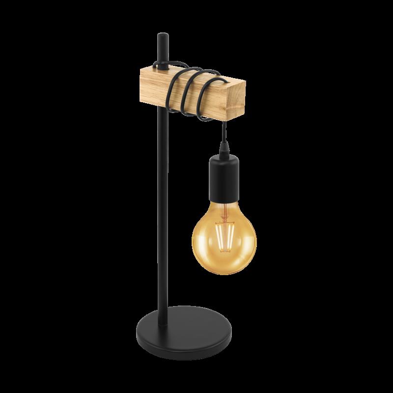 Lampa stołowa TOWNSHEND 32918 czarny/brązowy EGLO